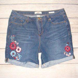 Vintage America Blues Embroidered Denim Shorts 8